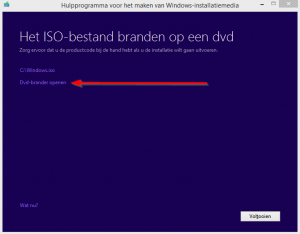 Windows usb - dvd branden